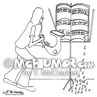 Saxophone Cartoon 0402