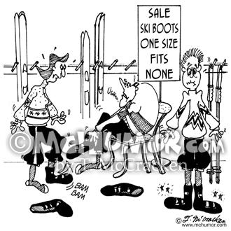 skiing cartoon 4711 - mchumor & thekomic