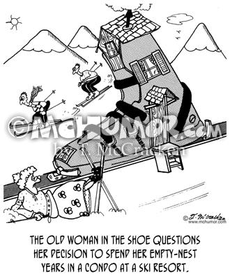 skiing cartoon 4895 - mchumor & thekomic
