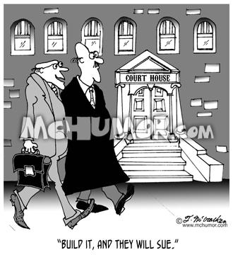 Lawsuit/Construction Cartoon 6289