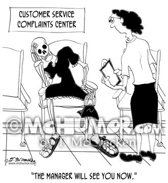 Customer Service Cartoon 8972