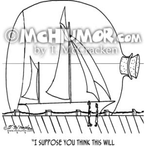 0352 Sailing Cartoon