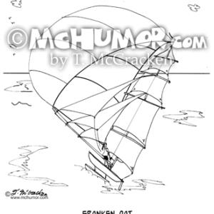 7459 Catamaran Cartoon