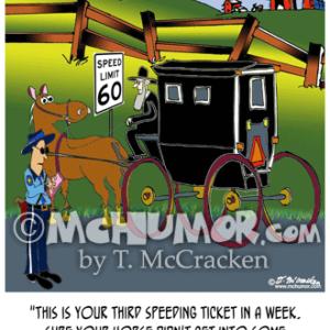 9132 Amish Cartoon