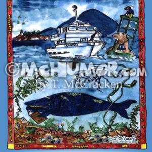 8018V Boat Cartoon