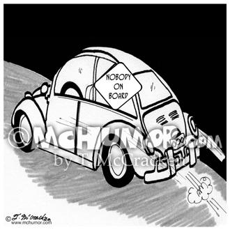 2587 Driving Cartoon
