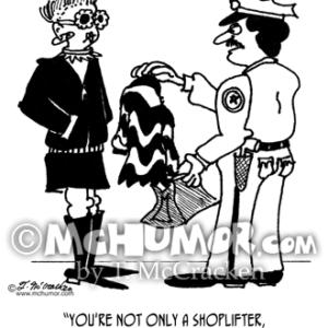 3013 Shoplifting Cartoon