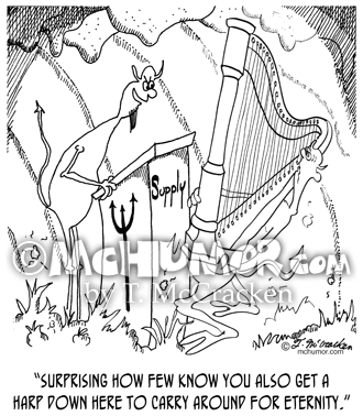 Harp Cartoon 6525