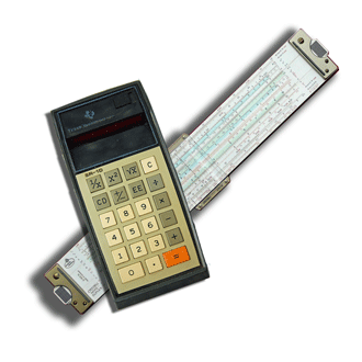 An SR 10 Calculator @ a slide rule