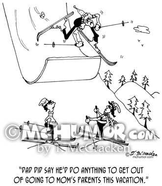 5697 Skiing Cartoon1