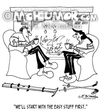 5700 Skiing Cartoon