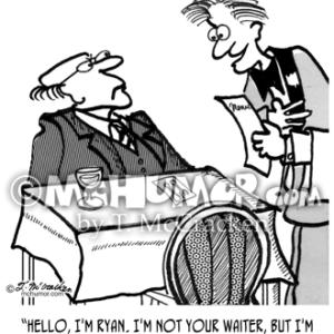 2599 Waiter Cartoon