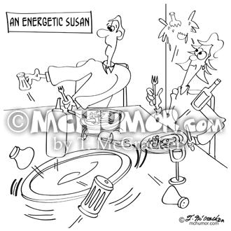 9351 Lazy Susan Cartoon