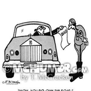 3042 Driving Cartoon