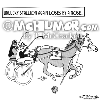 Horse Racing Cartoon 3123