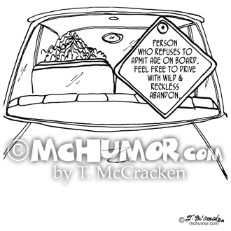 6876 Driving Cartoon