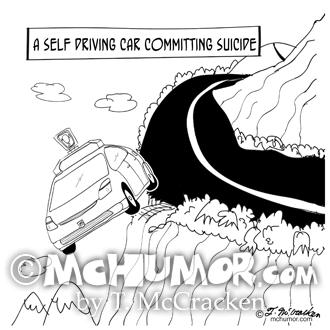 9467 Self Driving Car Cartoon