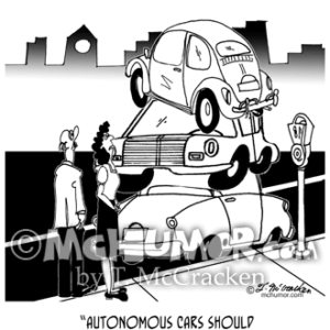 9474 Autonomous Car Cartoon