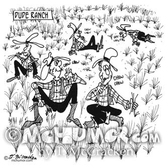 Dude Ranch Cartoon 4690