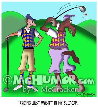 Golf Cartoon 9528